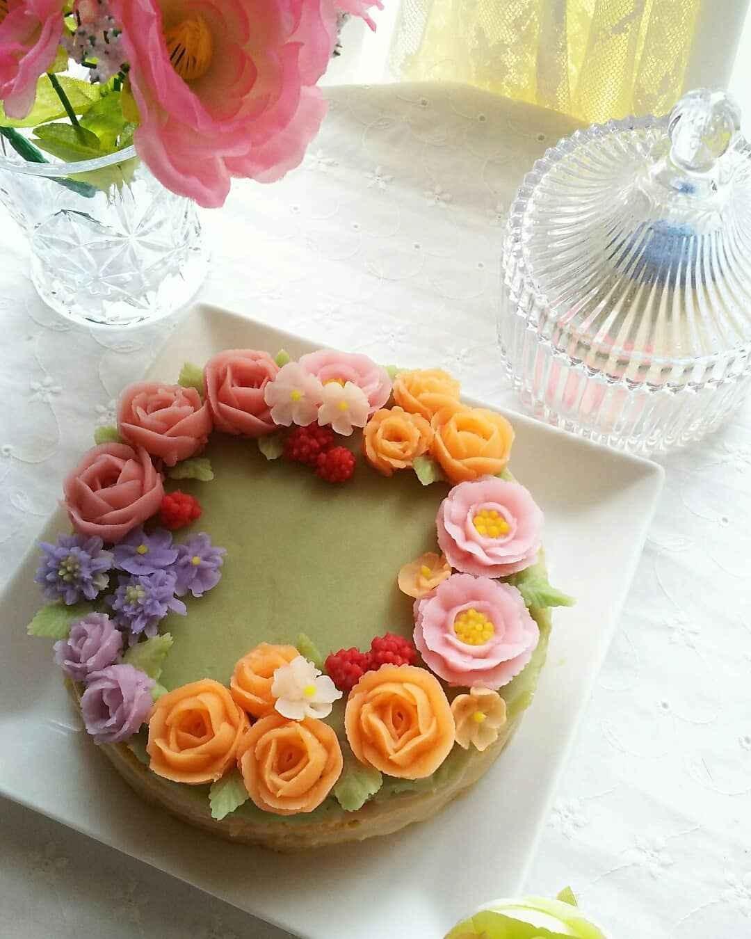フラワーケーキ&香りのレッスン