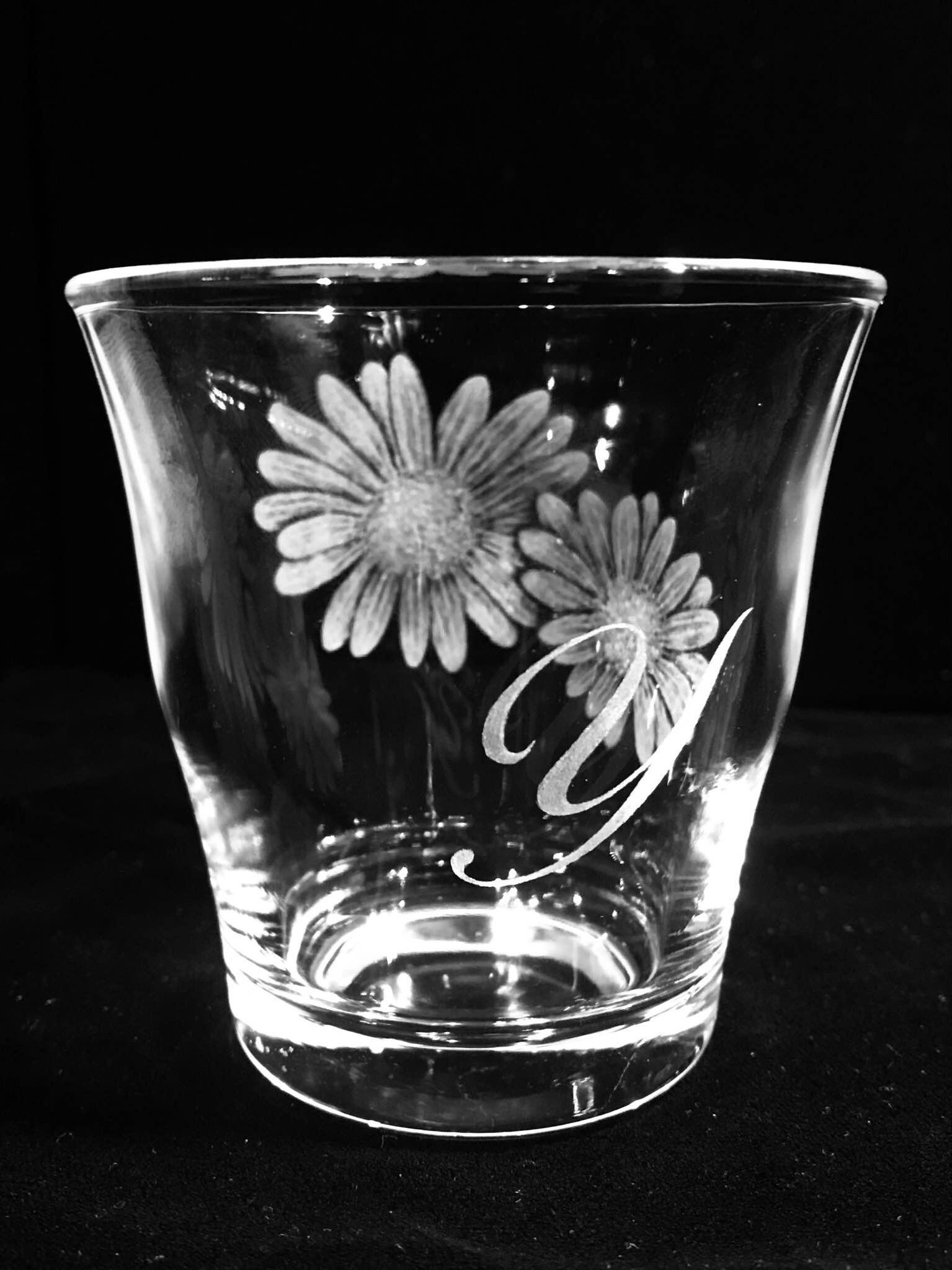 母の日のグラスリッツェン(手彫りガラス)