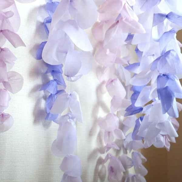 こどもの日にピッタリ♪大人気の和風アイテム「藤の花」を作ってみよう♪