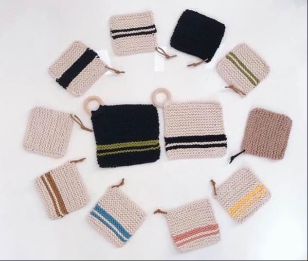 編み物始めての方のためのコースターワークショップ