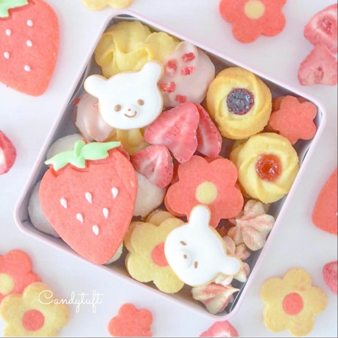 苺クッキー缶レッスン