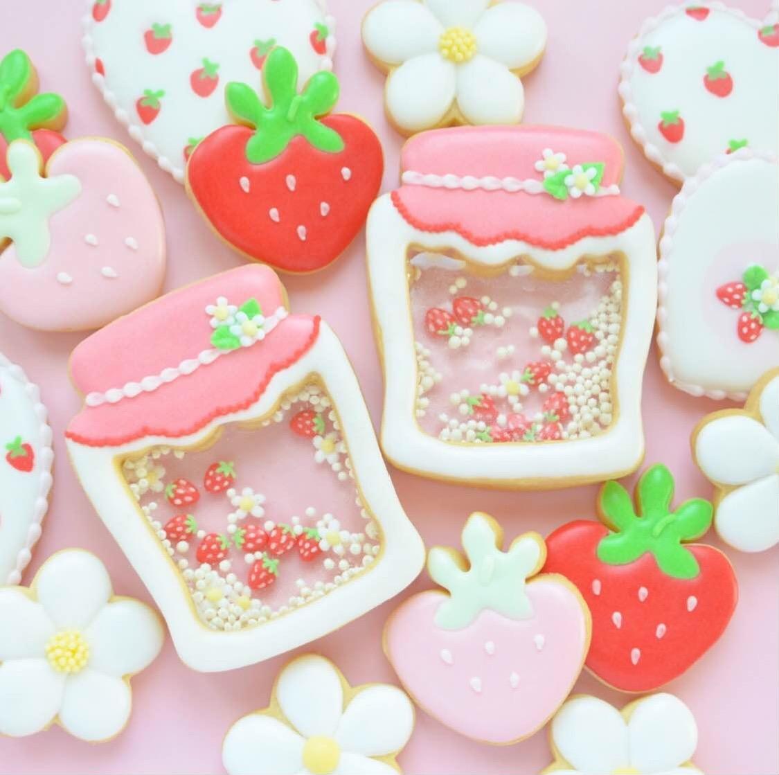 苺ジャム風シャカシャカクッキーを作ろう