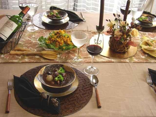 お手製パスタでおもてなし料理とテーブルコーディネート