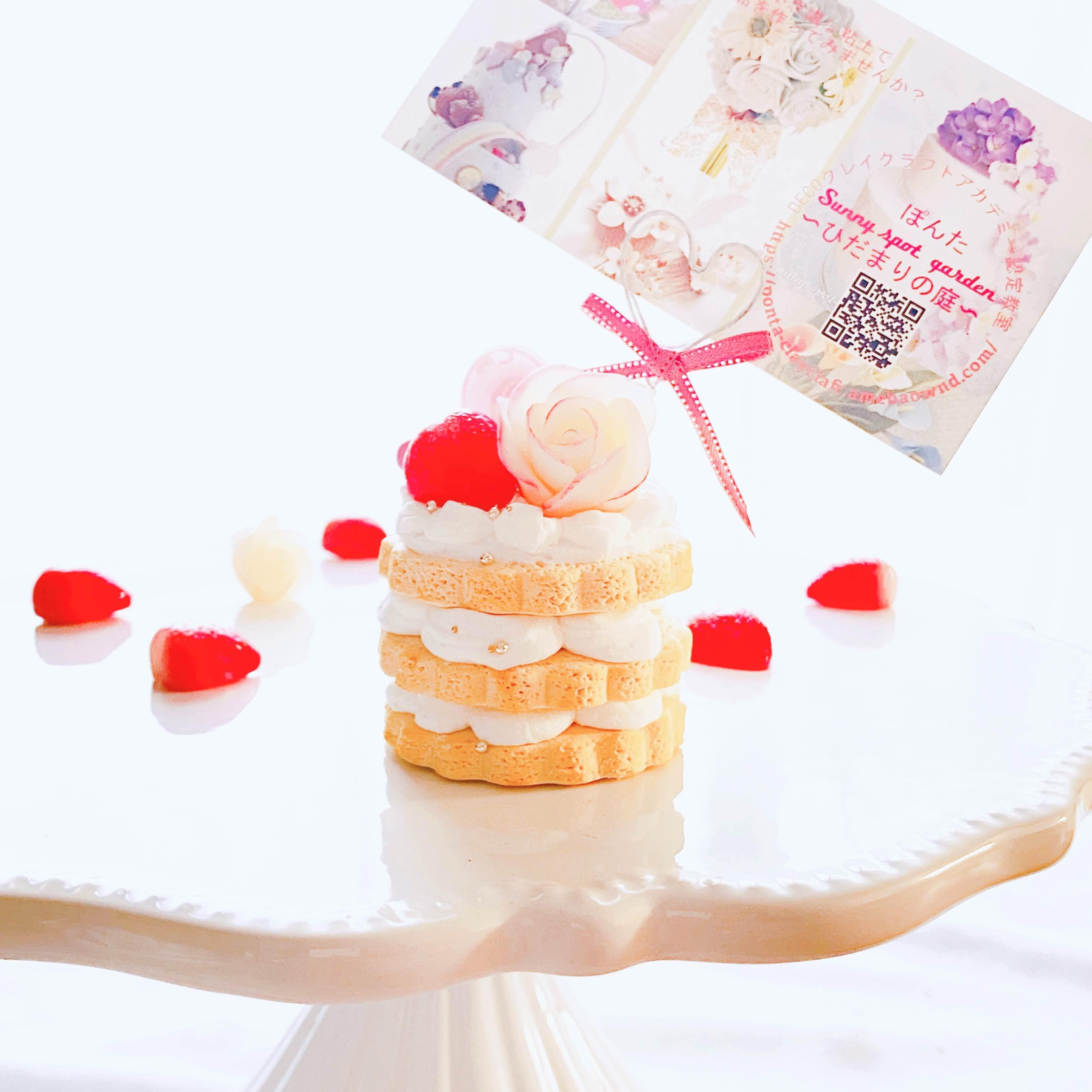 【初心者様大歓迎】薔薇のネイキッドケーキのメモスタンド