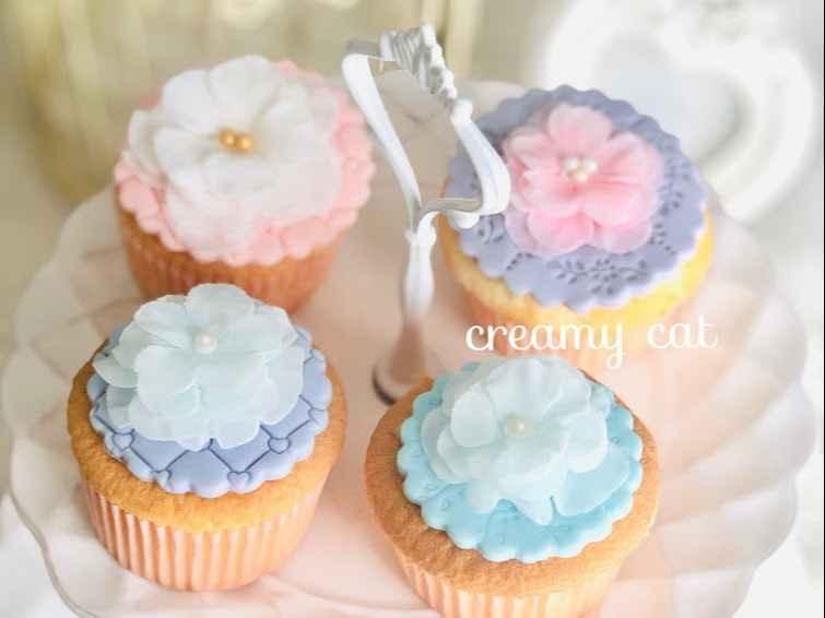 ふわふわフリルのカップケーキデコレーション