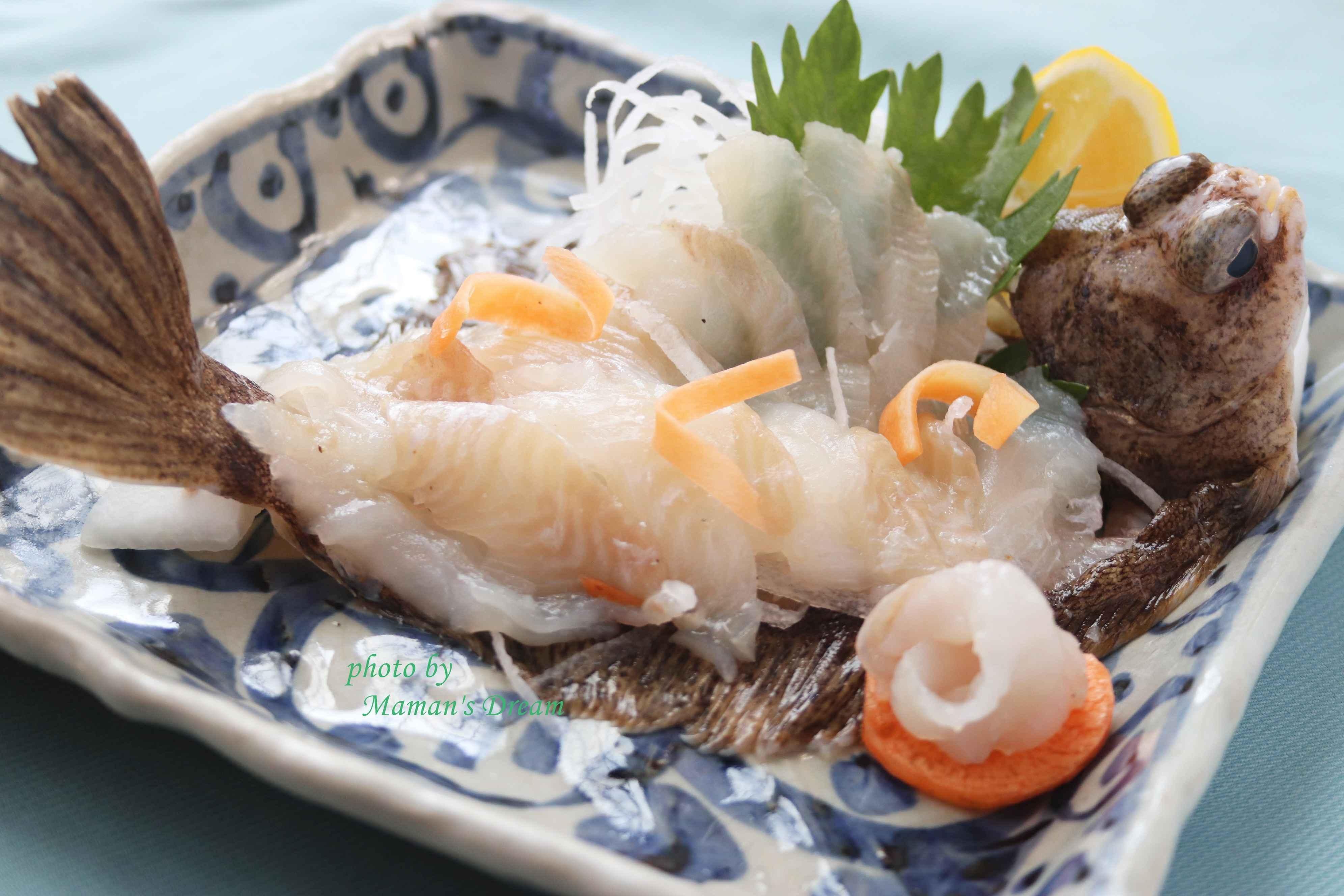 さばきから始まるお魚定食+魚介の巻き寿司(持ち帰り)
