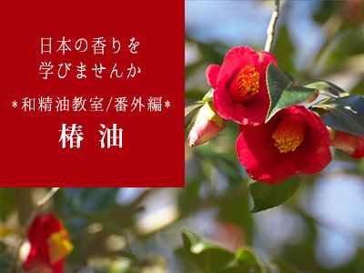 日本の香りを学びませんか~3月の和精油教室・番外編<椿油>~