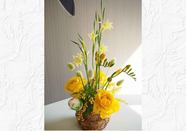 【八千代台】イースターの巣ごもりアレンジ(生花)