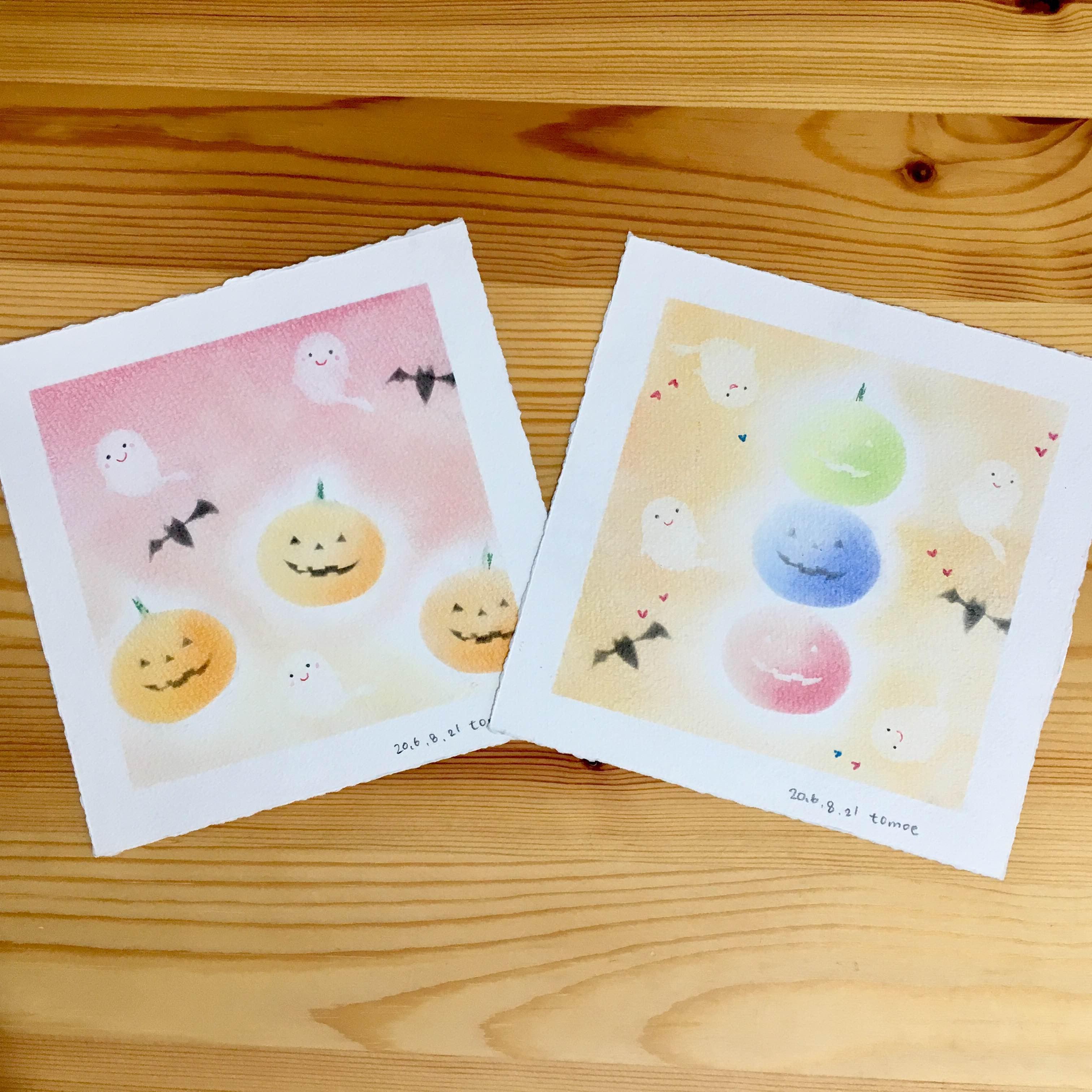 パステルアートで「ハロウィン」の絵を描こう!@吉祥寺アムリタ食堂3F