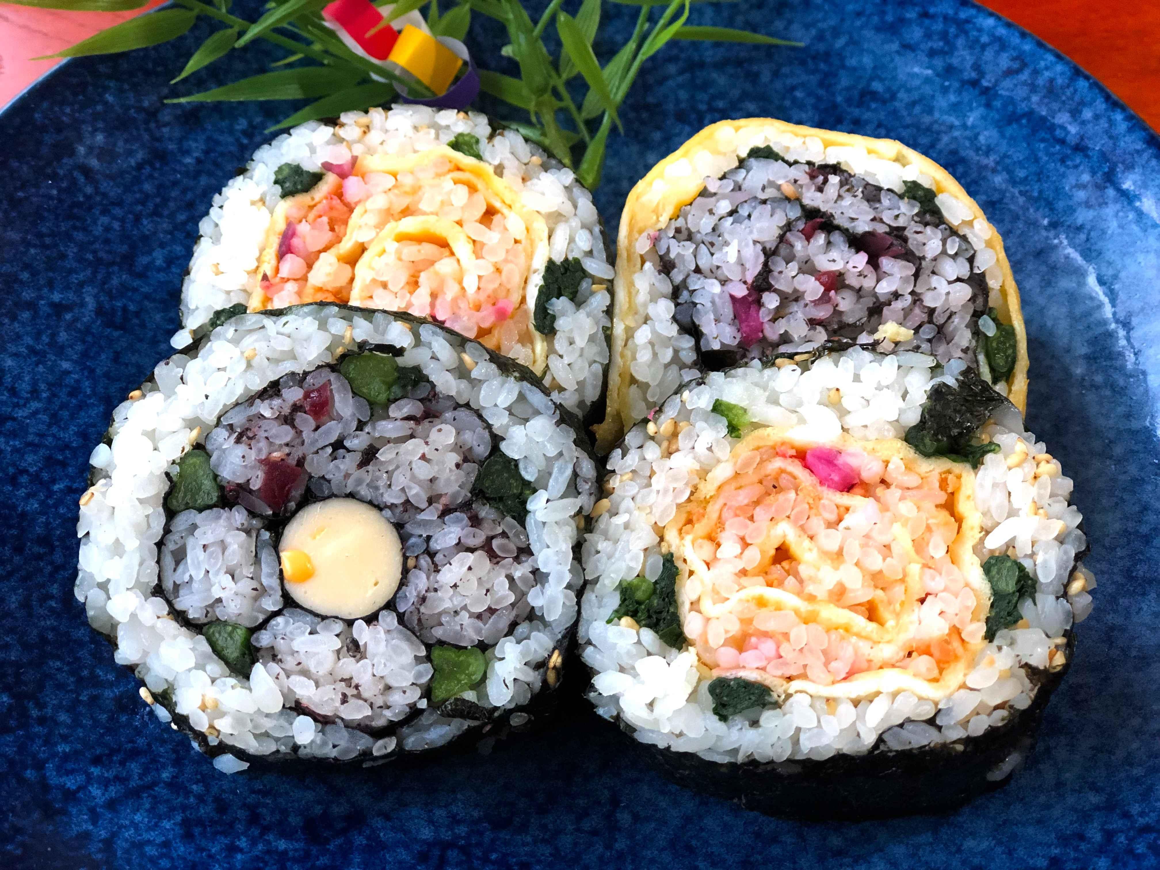 【オンライン】おうちで花の飾り巻き寿司を作ろう♪親子参加OK♪