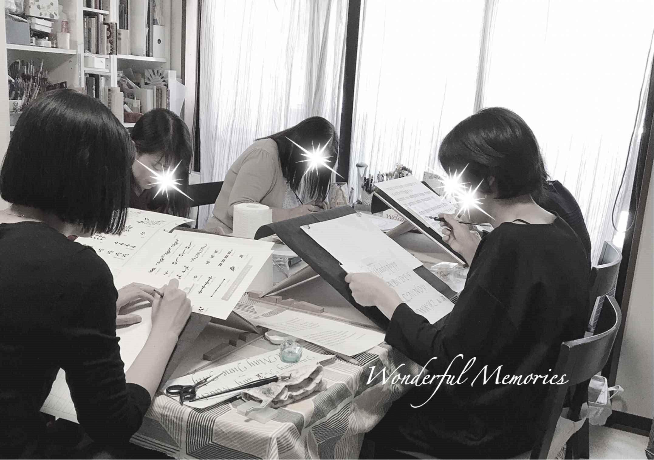 カリグラフィー教室ワンダフルメモリーズ 横浜自宅教室