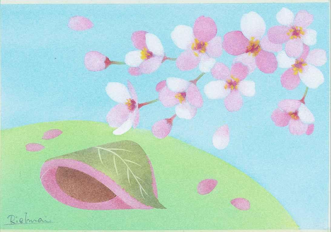 型シートのみ 趣味で楽しむきままパステルオンライン教室「B6桜もち」