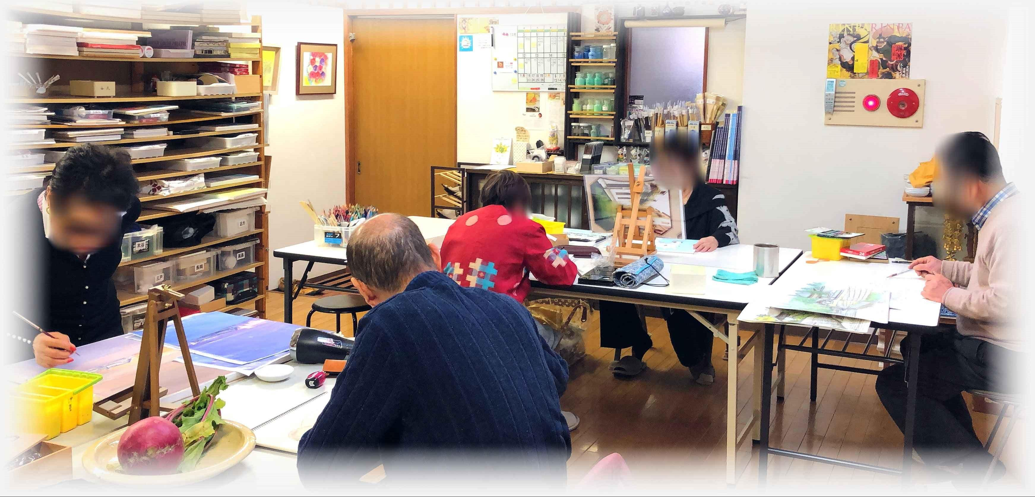 絵画教室西原 銀山校/広島市中区 デッサン・水彩画・アクリル画・日本画
